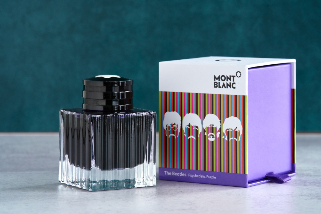 Montblanc Psychedelica Purple fountain pen ink.