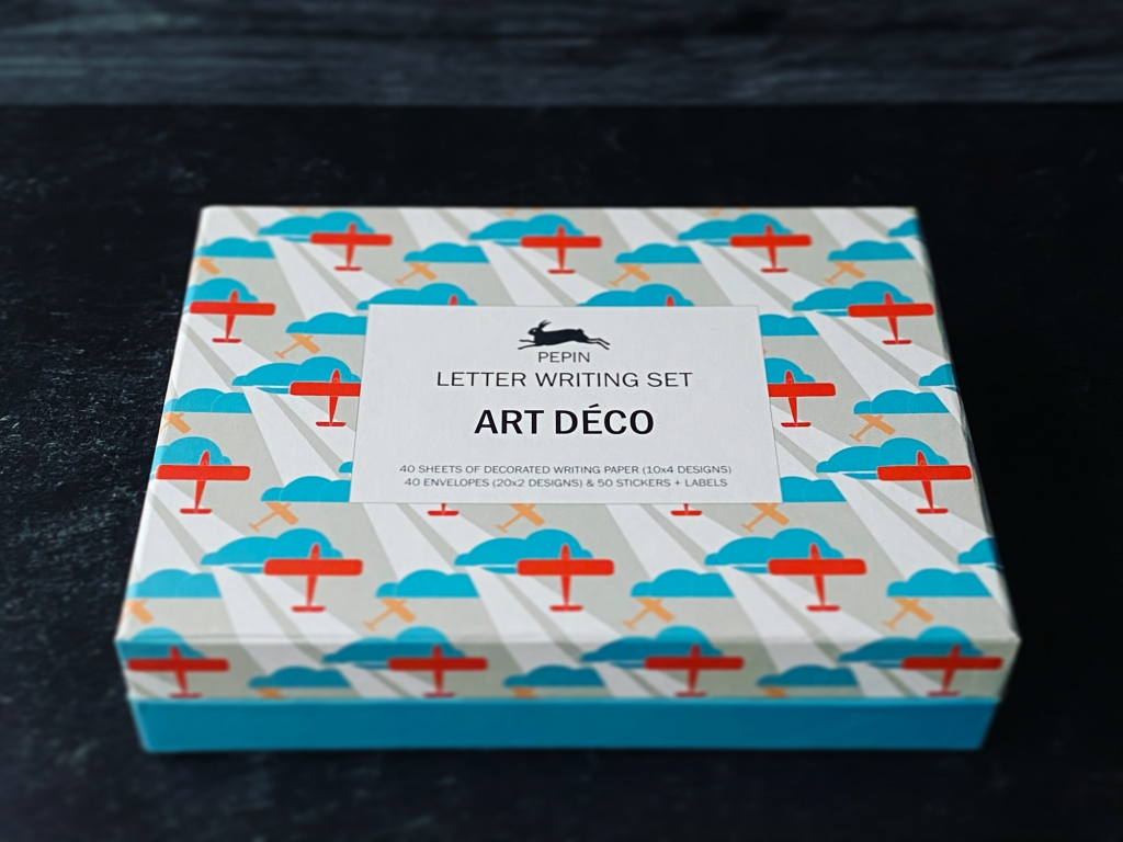 Pepin Press Art Déco letter writing box packaging