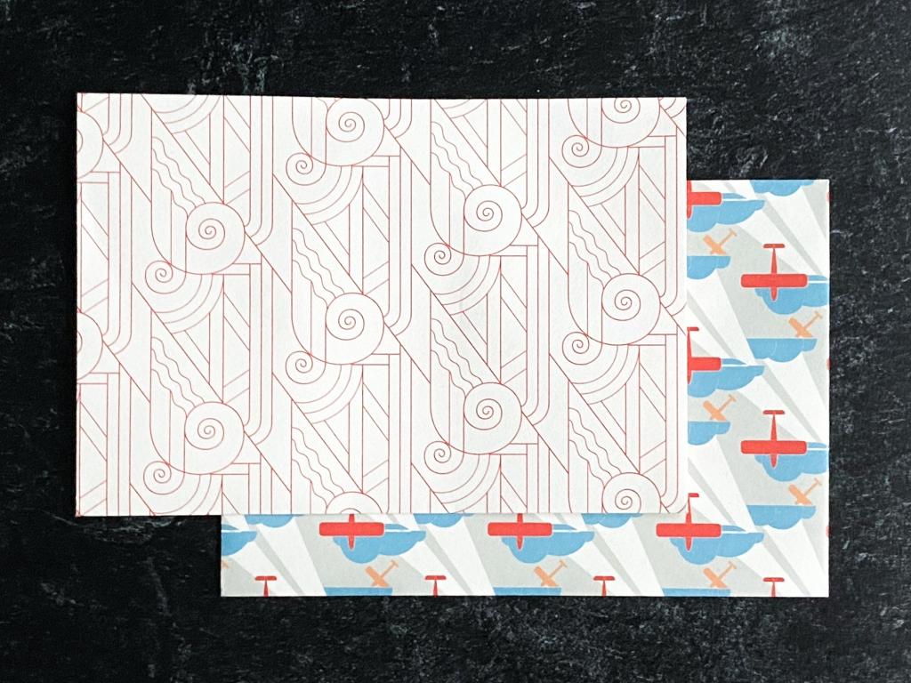 Two Pepin press Art Déco envelopes